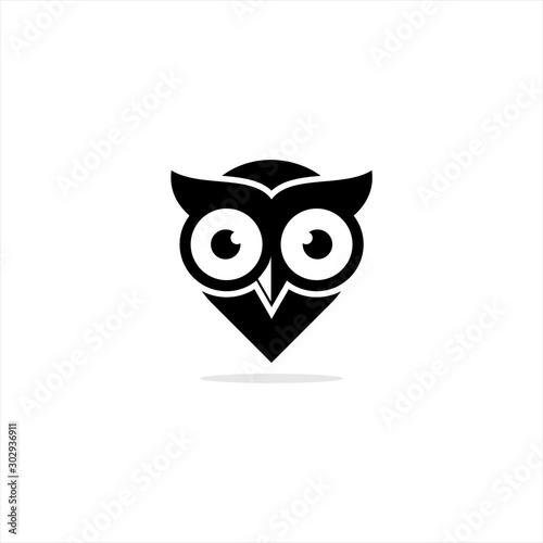 Valokuva owl logo design icon vector