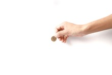 Coins In Hand Euro Coins Are B...