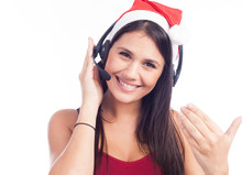 Christmas Headset Woman From T...
