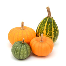 Green Ornamental Gourds And Or...