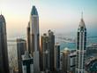 Dubai, Dubai / United Arab Emirates / 10 19 2019: Dubai Marina Towers