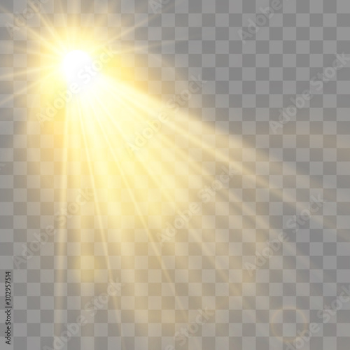 Special lens flash, light effect Canvas Print