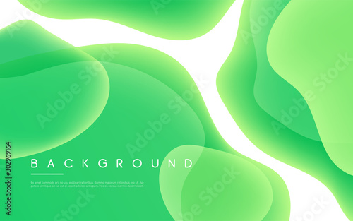 Obraz Abstract minimalist vector background with liquid bubble shapes - fototapety do salonu