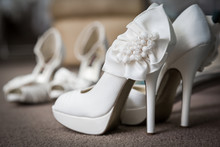 Pair Of New Elegant White Wedd...