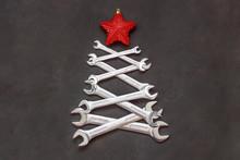 Christmas Tree Made Of Tools. ...