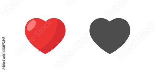 Like and Heart icon. Valentine's day love hearts. Obraz na płótnie