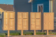 Row Of Mailboxes With Numbers ...