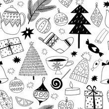 Christmas Icons Seamless Patte...