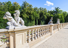 Sculptures And Balustrade In T...