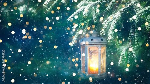 Cuadros en Lienzo  Wonderful Winter Christmas Background