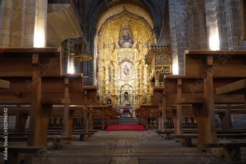 Interior of the church in Spain