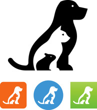 Pet Shop Vet Animals Vector Icon
