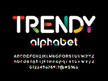 Vector Of Stylized Modern Vibrant Color Alphabet Design