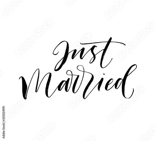 Obraz na plátně Just married postcard