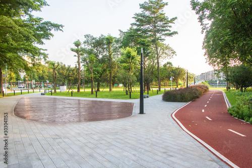 The Fushan park of Jiangmen at dusk,Guangdong,China. Slika na platnu