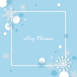 Snowflakes christmas background with free text spaec paper cut style - Vector illustration.