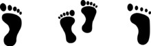 Footprint Icon Isolated On Whi...