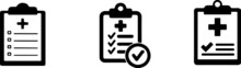 Medical Clipboard Icon On Back...
