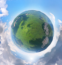 Little Planet Panorama Of Mountain