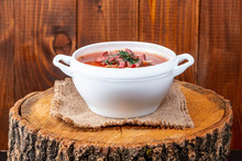 Soup-Solyanka With Smoked Meat...