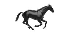 3D Rendering Black Horse In Ru...