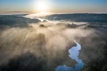 Wonderful Mist Over River In S...