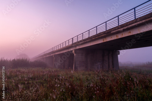 Dolina Górnej Narwi, Mglisty poranek, Narew, Podlasie, Polska