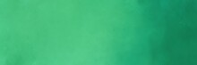 Painting Background Texture With Medium Sea Green And Sea Green Colors And Space For Text Or Image. Can Be Used As Header Or Banner