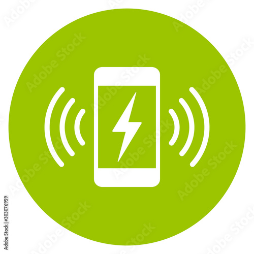 Phone charging point vector icon Fototapete