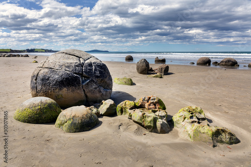Moeraki Boulders New Zealand Wallpaper Mural