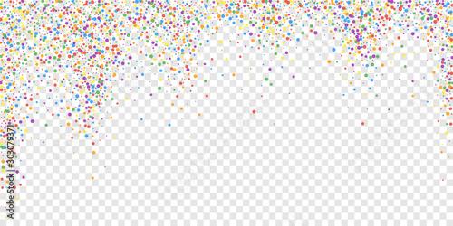 Fototapeta Festive confetti. Celebration stars. Rainbow confe obraz na płótnie