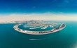 Leinwanddruck Bild - Aerial view on Palm Jumeira island in Dubai, UAE, on a summer day.
