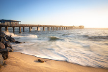 Sunset At The Swakopmund Pier,...