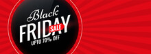 Black Friday Red Sale Banner W...