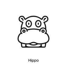 Hippo Icon Vector