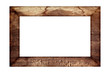 canvas print picture - old wood frame classic isolated on white background.