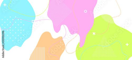 Fototapety, obrazy: Pastel Geometric Illustration. Minimal Fluid