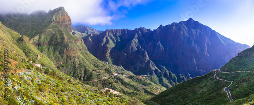 Impressive volcanic Tenerife - Masca mountain village. Canary islands