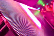 canvas print picture - LED soft focus background, Abstract LED Panel art wall falling out of focus