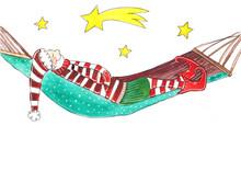 Charlie Flocke Der Fleißige Weihnachtshelfer Entspannt Unter Dem Sternenhimmel
