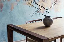 Close Up Of Design Wooden Tabl...