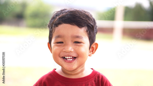 Photo Happy Little Asian baby boy 2 years old