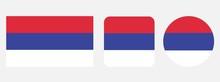 Srpska Flag, Vector Illustration