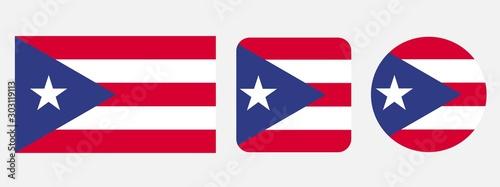 Puerto Rico flag, vector illustration