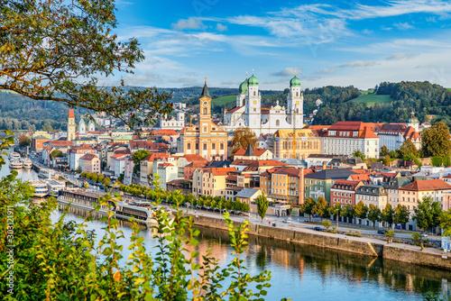 Dreiflüssestadt Passau Fototapeta