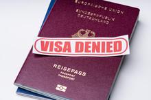 Visa Denied Text With Passport...