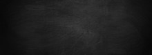 Dark Texture Chalk Board And Grunge Black Board Banner Background