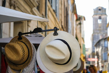 Sun Hats On A City Street In P...