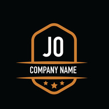 Initial Letter JO Vintage Logo Concept. Graphic Design Element For Business.
