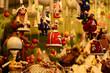 Leinwanddruck Bild - Handmade Christmas Ornaments in a Market. Italy.